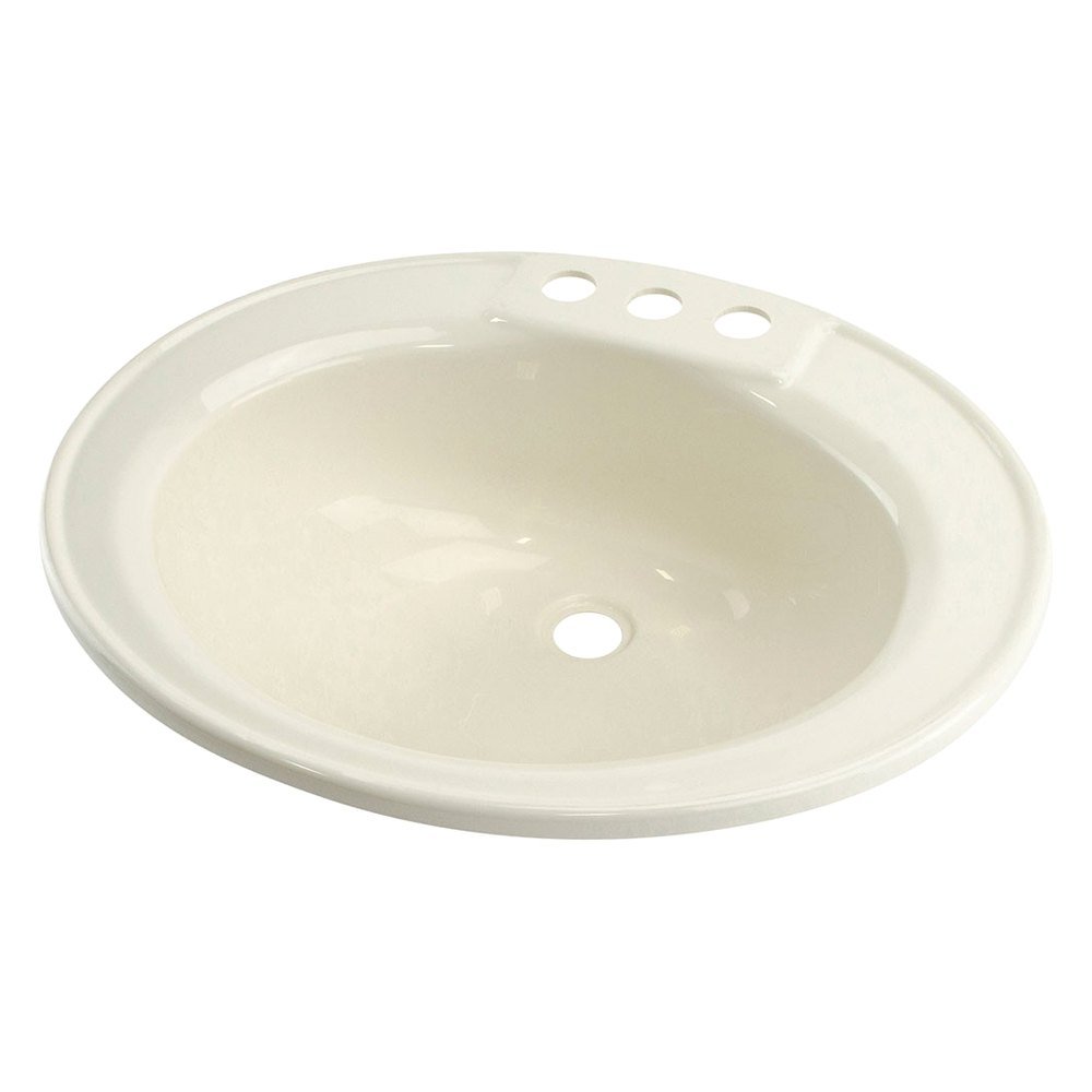 Enjoyable Better Bath 209358 Plastic Parchment Drop In Oval Lavatory Sink 20L X 17W Home Interior And Landscaping Palasignezvosmurscom