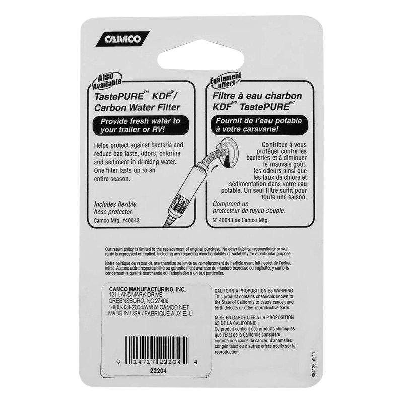 Camco 22204 Tastepure 0 75 White Plastic Fresh Water Hose Cap With Lanyard Camperid Com