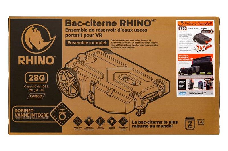 Camco 39004 Rhino 28 Gal Portable Waste Holding Tank Camperid Com
