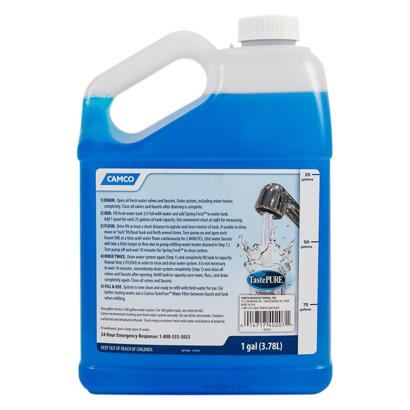 Camco 40207 Tastepure Spring Fresh 1 Gal Drinking Water Freshener Camperid Com