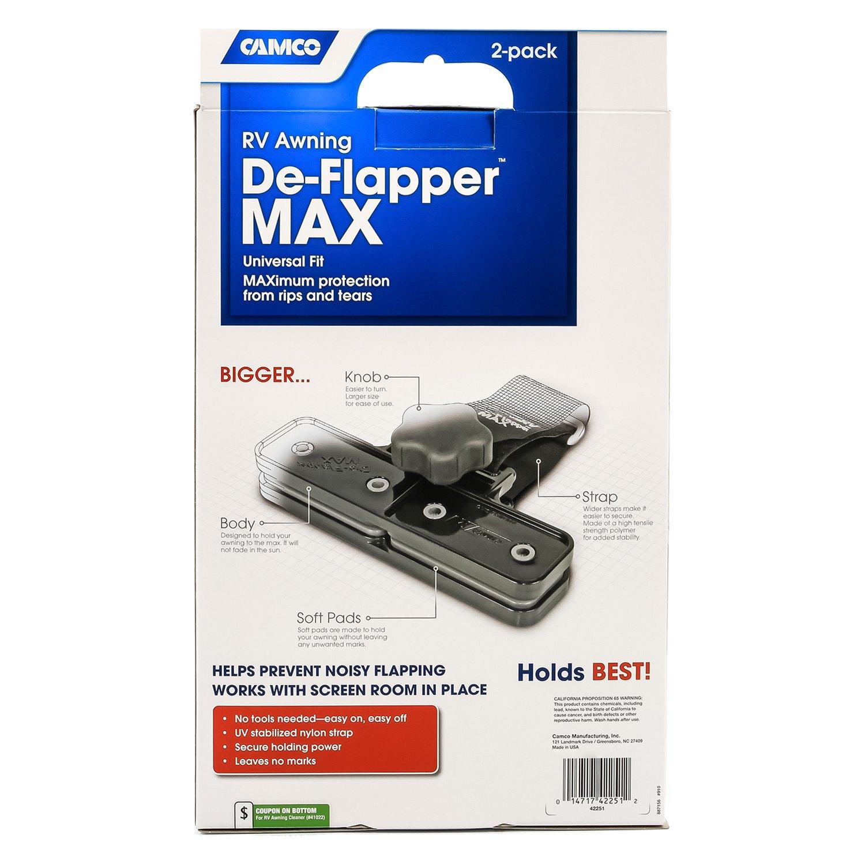 Camco 174 42251 De Flapper Max 0 7 L X 0 2 W X 0 1 H Black
