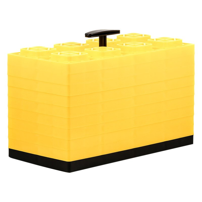 Camco 44515 Fasten Yellow Leveling Blocks With T Handle 10 Pieces Camperid Com