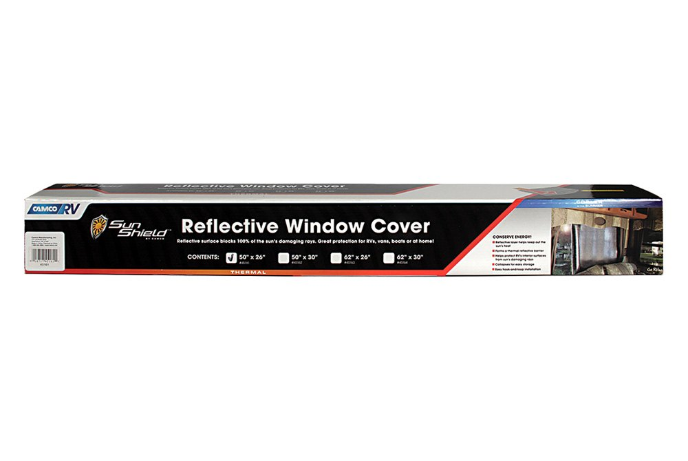 Camco 45161 Sunshield Silver Thermal Reflective Window Cover Camperid Com