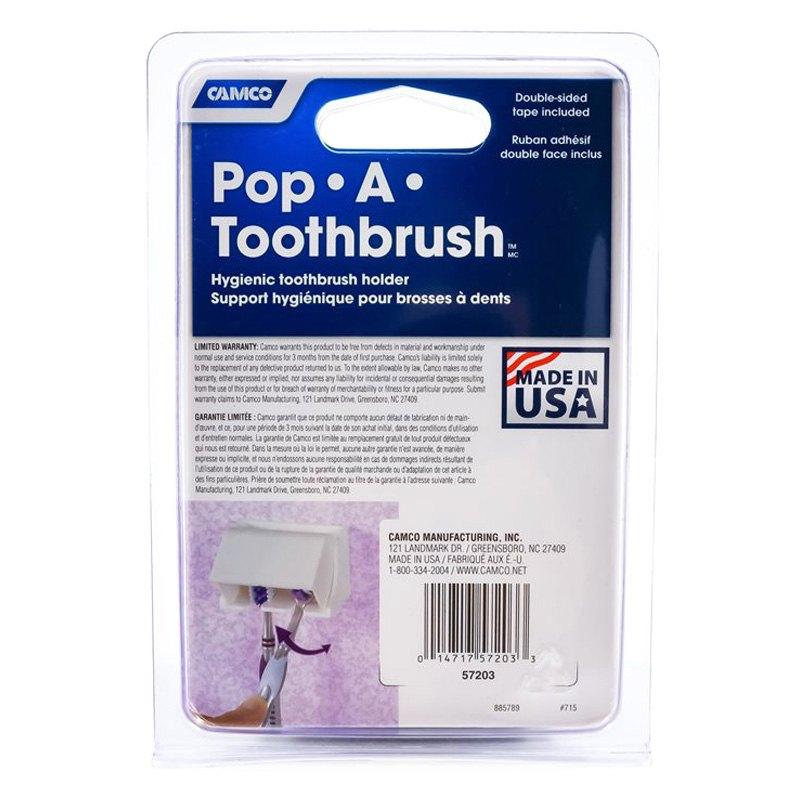 Camco 57202 Black Plastic Holder For 2 Toothbrush Camperid Com