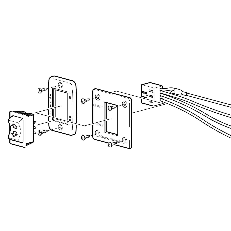carefree u00ae r001605 - awning rocker switch