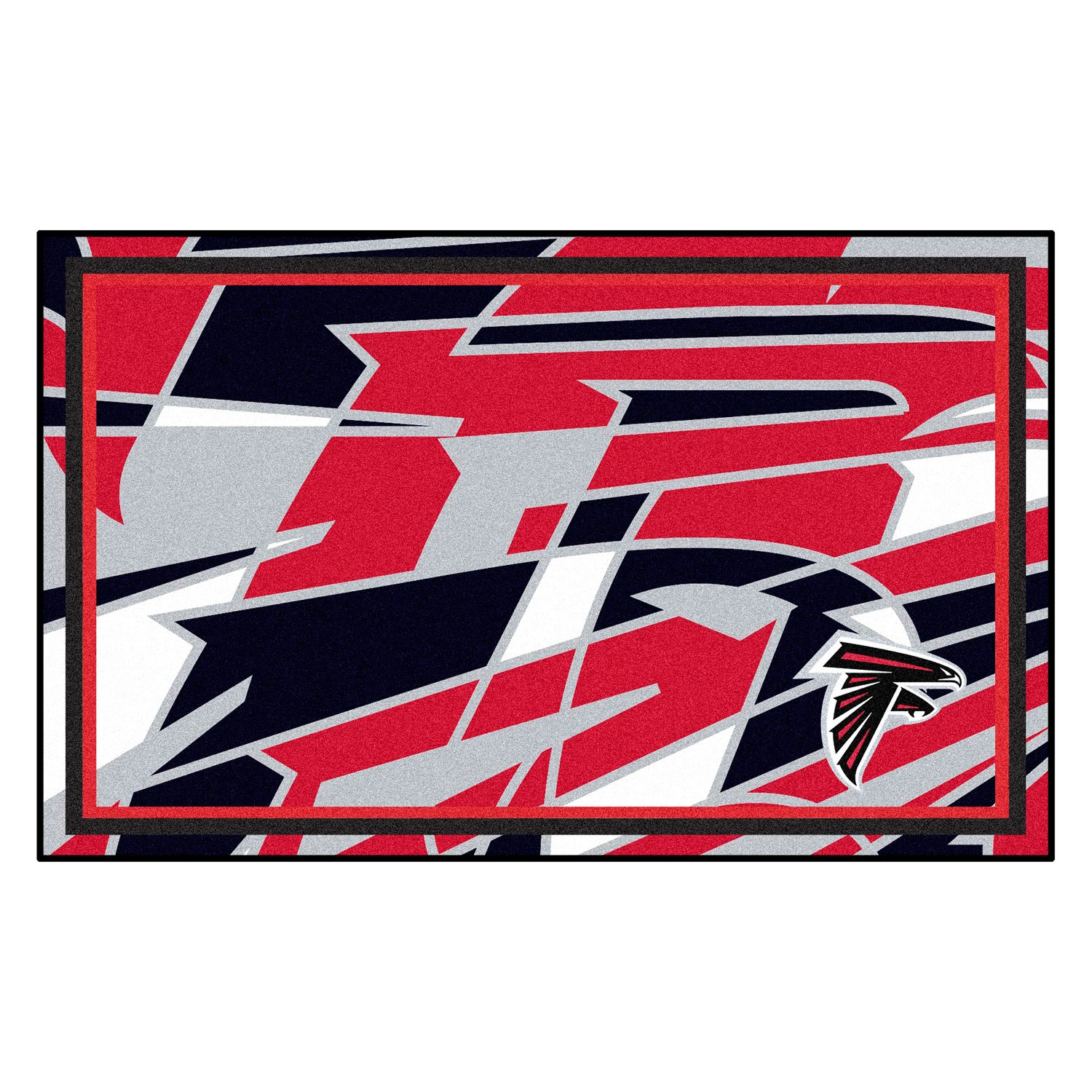 Fanmats 23202 X Fit Nfl Atlanta Falcons 4 0 X 6 0 Rectangular Carpet Area Rug With Falcon Logo Camperid Com