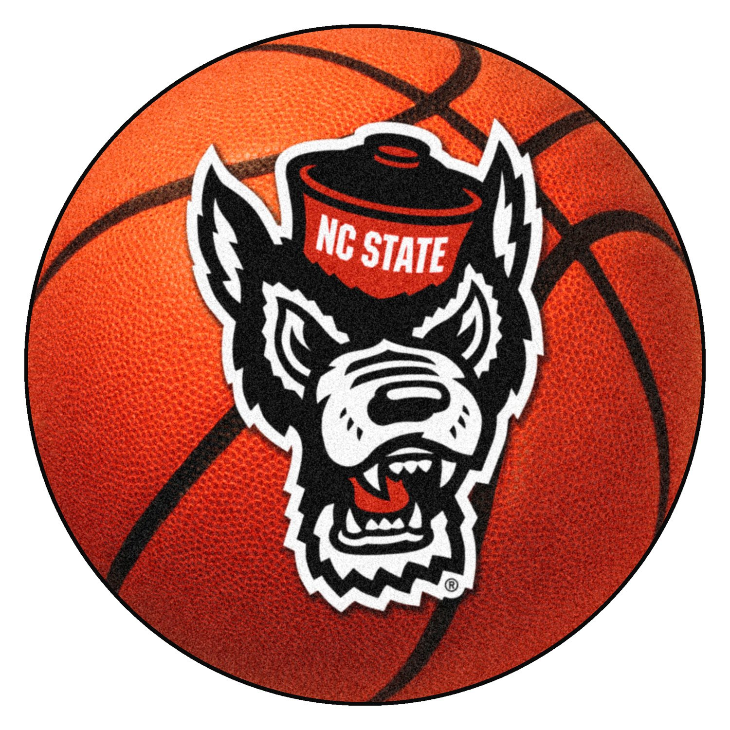 Fanmats 23979 North Carolina State University 27 Dia Nylon Face Basketball Ball Floor Mat With Wolf Logo Camperid Com