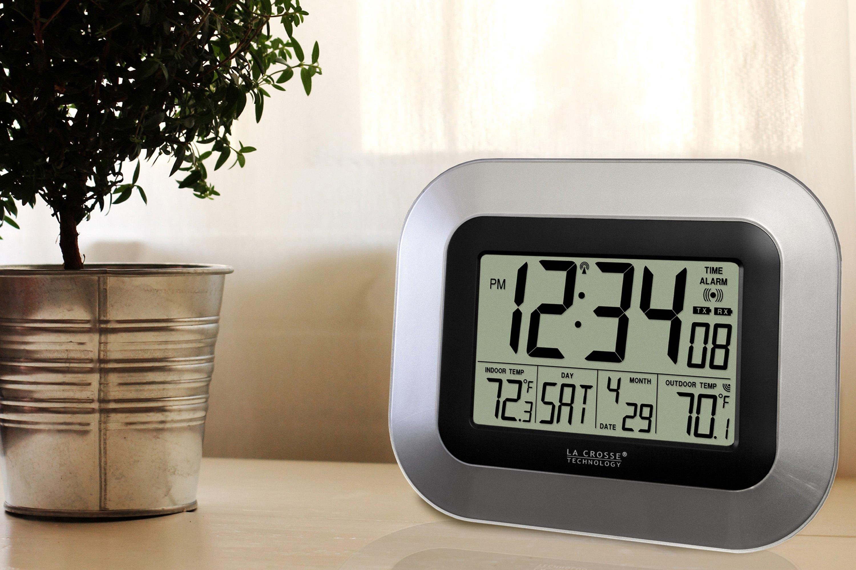 la crosse technology ws 8115u s atomic black silver. Black Bedroom Furniture Sets. Home Design Ideas