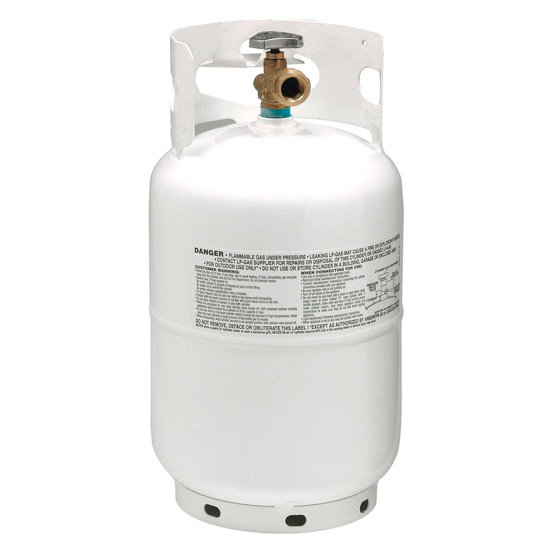 Manchester Tank® 10228 4 - 10 lbs Steel Vertical White DOT LP Gas Tank