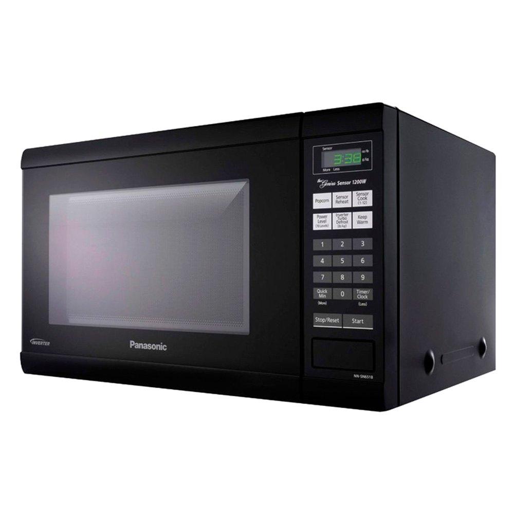 Panasonic 1 2 Cu Ft Black Microwave