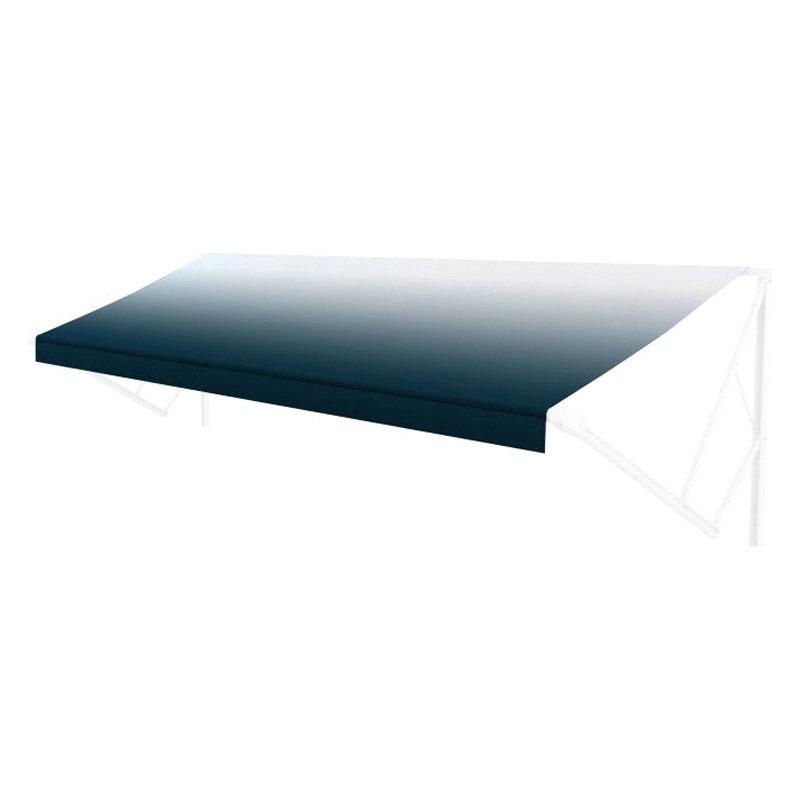 Solera Awnings 174 V000334441 20 L X 8 Ext Blue Vinyl Fade