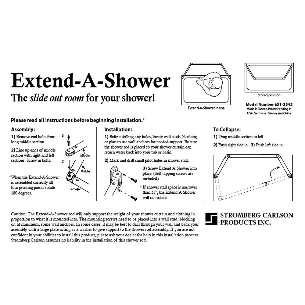 Orb Shower Curtain Rod.Stromberg Carlson Ext 5460orb Oil Rubbed Bronze Nickel Extend A