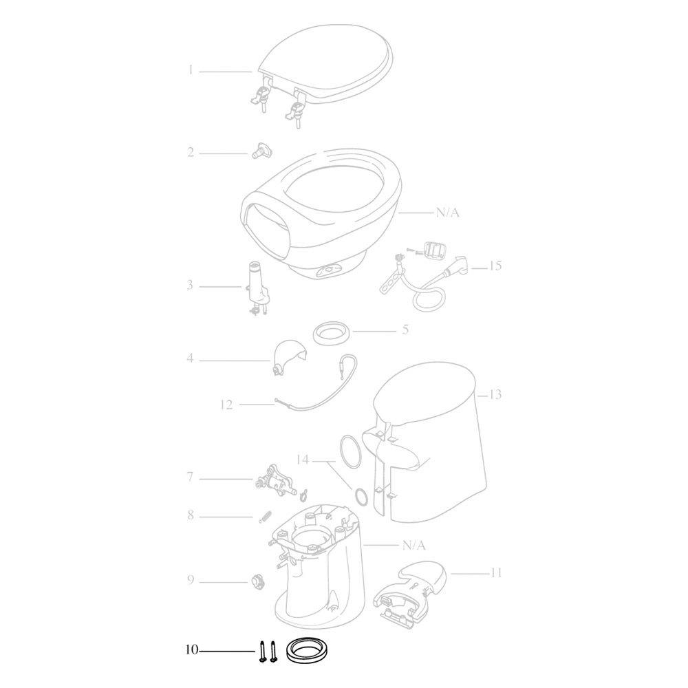 Thetford® - Aqua Magic® Style Plus Toilet Replacement Parts